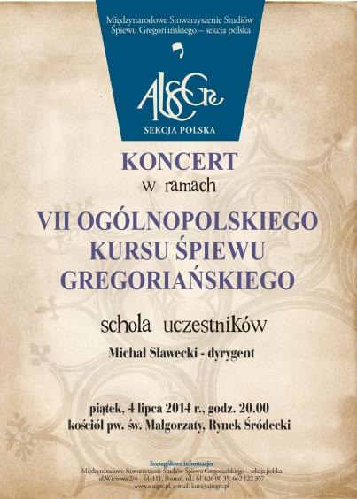 Kurs 2014 koncert uczesntikow